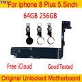 Материнская плата для iphone 8 Plus  64 ГБ 256 ГБ  чистая iCloud 100% оригинальная разблокированная материнская плата для iphone 8 Plus с/без Touch ID