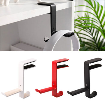Headphone Holder Display Desk Mount Universal Office Non Slip Hanger Headset Stand Durable Bracket Space Saving Table Clamp image