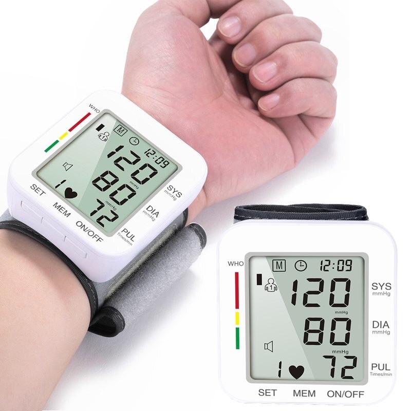 Bilek BP kan basıncı izleme sayacı nabız hızı kalp yendi hızı cihazı makinesi tıbbi ekipman tonometre BP sfigmomanometre