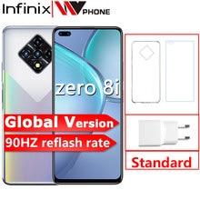 Küresel sürüm Infinix sıfır 8i 8GB 128GB cep telefonu 6.85 ''FHD 90Hz tam ekran 48MP dört kamera 33W şarj 4500mAh pil
