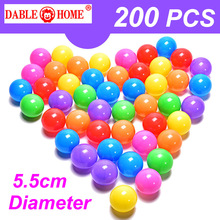 200pcs/bag Eco Friendly Colorful Soft Plastic Water Pool Ocean Wave Ball Baby Funny Kids Toys Stress Air Ball Outdoor Fun Sports