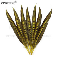 60 70 cm Lady Amherst Pheasant tail Feathers jewelry Wedding Decorations