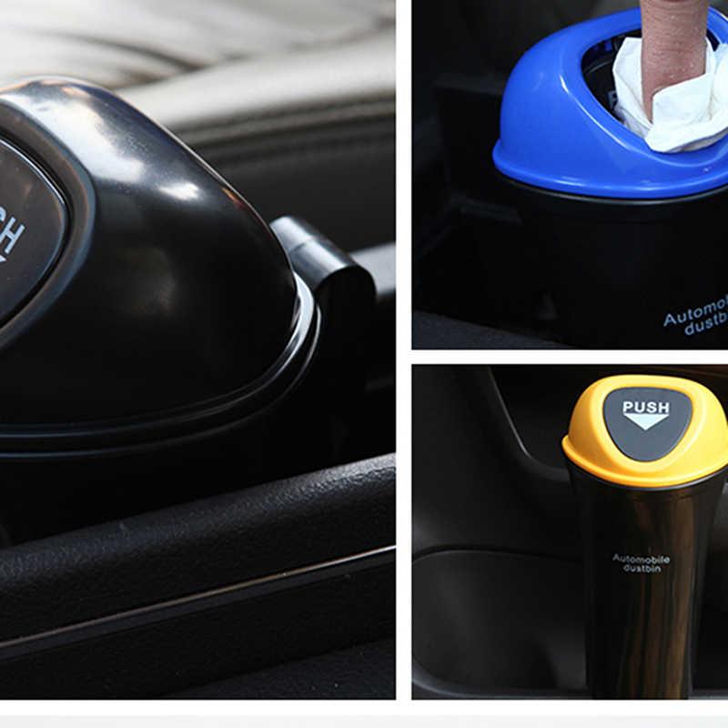 Universale Auto Pattumiera Può Organizzatore di Immondizia Supporto Auto Porta Sedile Posteriore Visiera Spazzatura Bin Automobiles Accessori Del Sacchetto di Stoccaggio