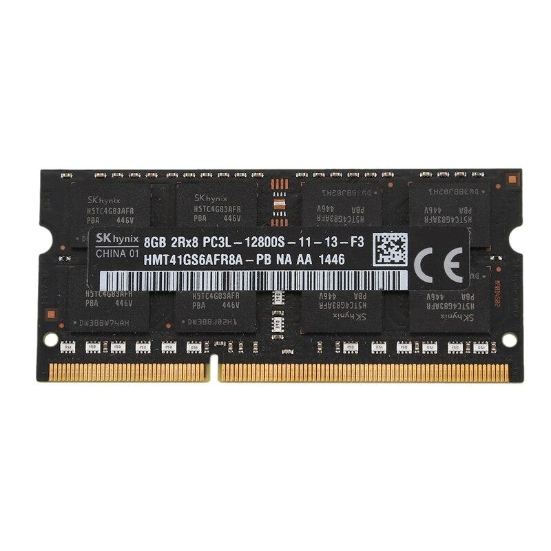 Ddr3l 8gb 1600mhz PC3L 12800S memória ram sodimm baixa tensão 1.35v 204 pino para notebook portátil (preto) RAM    -