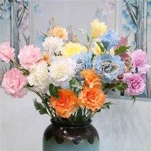 3 Pieces Flocked Hibiscus Flower Silk Flowers Artificial Wedding Hall Home Decor Hotel Arrangement Decoration