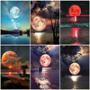 AZQSD Painting By Number Canvas Kits DIY Moon Unframe Coloring By Numbers Landscape Handpainted Painting Art Unique Gift