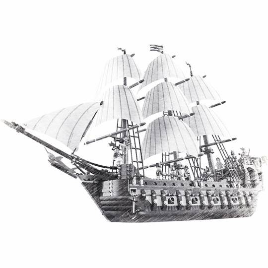 22001 Pirates Series The Imperial Flagship Model Building Blocks Set Pirate Ship LPings Toys For Children Boy Gift