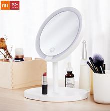 Xiaomi Espejo de maquillaje con luces LED y pantalla táctil HD para mujer, espejo de maquillaje con ajuste brillante, ideal para regalo de viaje, nuevo