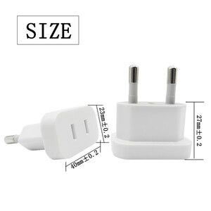 Image 4 - White EU Plug To CN China US USA Power Plug 2 Pin Socket Plug Adapter Travel Charger Converter EU Europe to US Socket