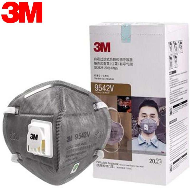 3M Masks 25pcs/box PM2.5 KN95 Particulate Respirator Dust Mask With Cool Flow Valve Breathable Mask 9001 9501 9542V+ DHL Free