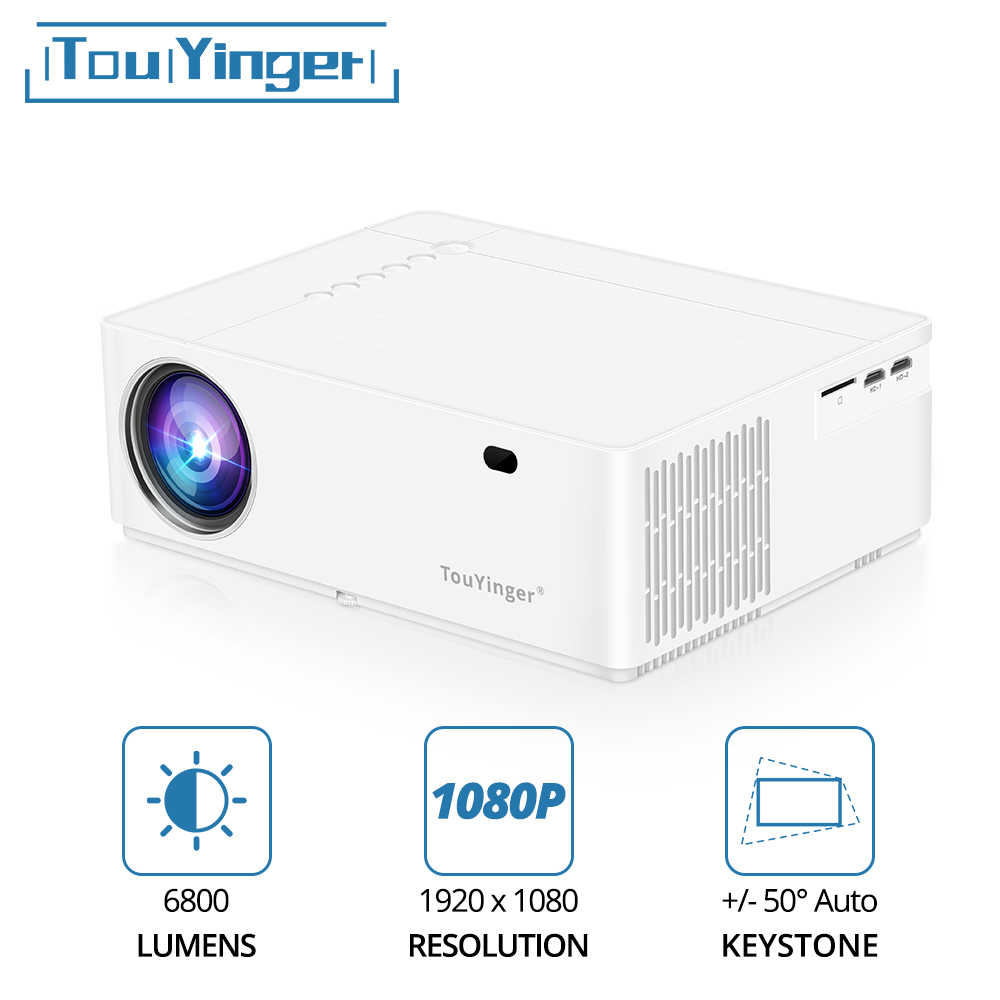 TouYinger M21 en iyi LED Video projektör LED Full HD 1080P 6800 lümen FHD 3D film Beamer HDMI USB VGA projektörler ev sineması