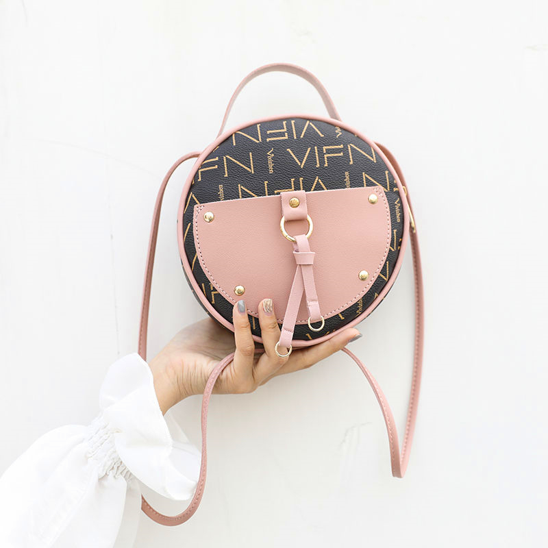 Round Shoulder Bag Harajuku Style Trend Simple Messenger Bag Woman Famous Luxury Brand 2019 Summer New Handbag