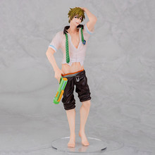 Wysokiej prędkości! Za darmo! Tachibana Makoto figurka Anime męski klub pływacki pistolet na wodę Ver. Kolekcja modeli z pcv lalki zabawki prezenty