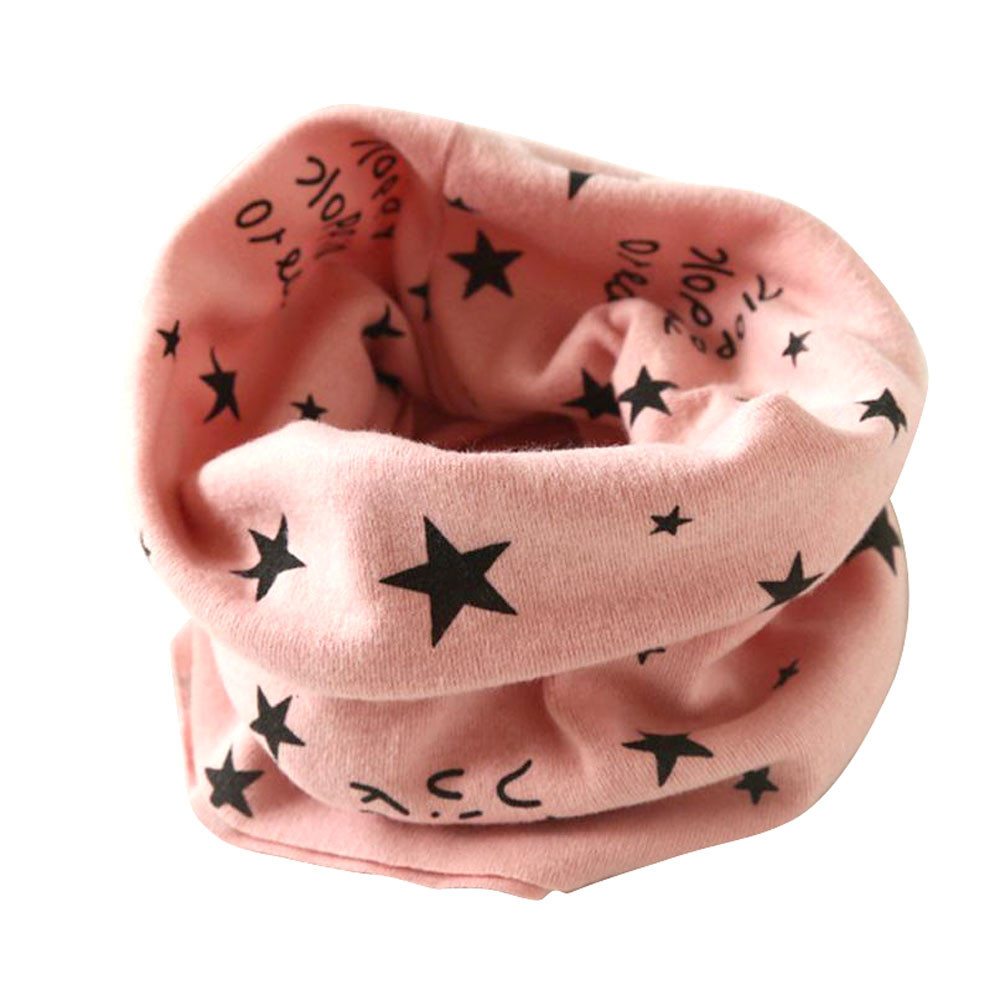 Kids   Scarf   New trendy boy girl Autumn Winter Collar Baby   Scarf   O Ring Neck   Scarves   lucky star print foulard for child   scarf   #L5