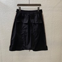 Harajuka Top Brand New Design Denim Patchwork Tassel Mens Shorts Drawstring Waist Knee Length Loose Male Casual Cross Shorts