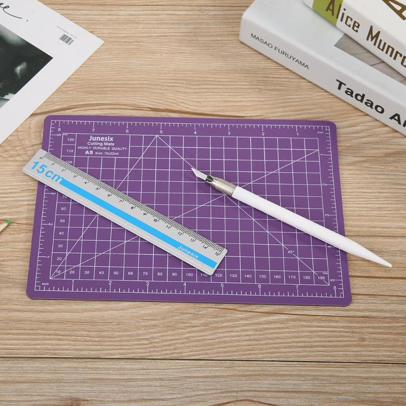 Self-healing Sewing Cutting Mat With Carving Pen Ruler PVC A5 Kit Double-sided Non-glare Manual DIY Cutting Accessories