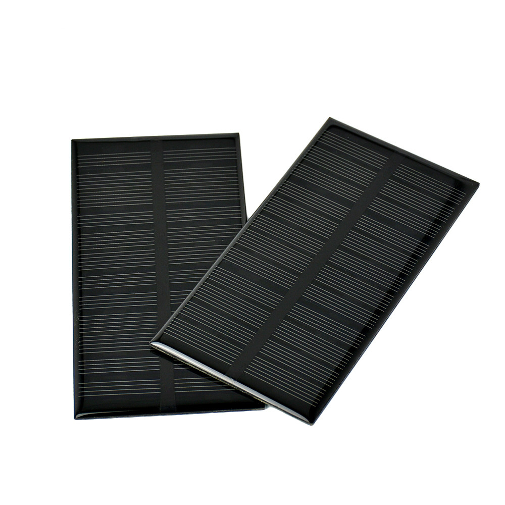 SUNYIMA 2Pcs <font><b>6V</b></font> <font><b>1W</b></font> <font><b>Solar</b></font> <font><b>Panel</b></font> DIY Photovoltaic <font><b>Solar</b></font> Cell Car Lamp Light Sun Power <font><b>Solar</b></font> battery 125*63mm Panneau Solaire image