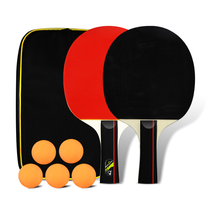 2-Pack Horizontal Position Dual Capture Finished Product Of Beat Penhold Table Tennis Racket Beginners Set Children Students Sho