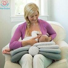 цена на Herbabe Newborn Baby Nursing Pillows Maternity Baby Layered Adjustable Breastfeeding Pillow Infant Feeding Cushion Sleeping Mat