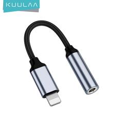KUULAA dla iphone #8217 a do 3 5mm słuchawki Adapter dla iPhone 11 Pro 8 7 Aux 3 5mm kabel Jack dla ios Adapter akcesoria tanie tanio CN (pochodzenie) 6972294816794