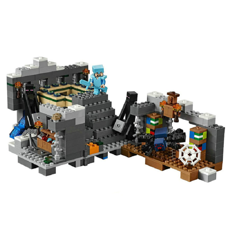 The End Portal Building Blocks With Steve Action Figures Compatible LegoINGlys MinecraftINGlys Sets Toys For Children 21124 2
