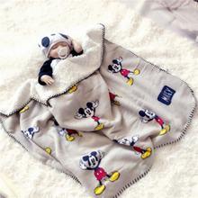 Плюшевое одеяло с Микки Маусом 70x100 см