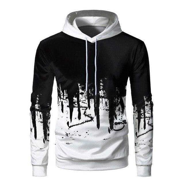 3D Printed Ink Sweatshirt Casual Hooded Pullover 1