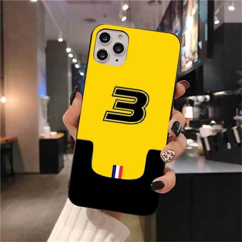 Coque souple noire pour iPhone, compatible modèles 6, 6S Plus, 7, 8, 11 pro, XS MAX, X, 5s, SE 2020, XR, pilote F1, Daniel riccialdo
