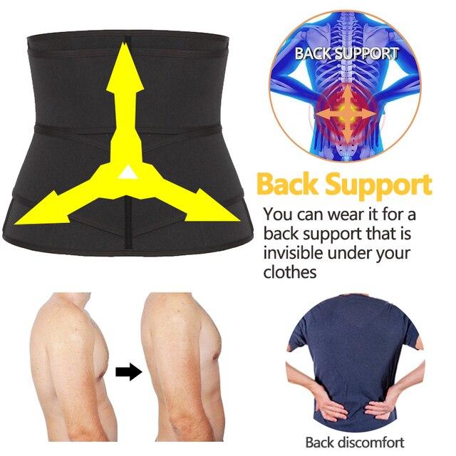 Men's Waist Trainer Weight Loss Body Shaper Belly Shapers Tummy Shapewear Abdomen Slim Girdle Promote Sweat Trimmer Belt Corset 4