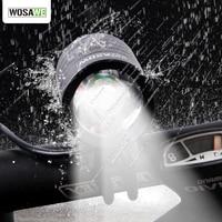 WOSAWE 1200 люмен XMK T6 велосипедные фары лампа водонепроницаемый светодиодный велосипедный передний фонарь с USB + DV кабелем