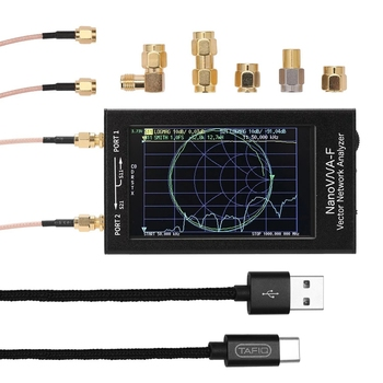 BESTPortable ręczny analizator sieci wektorowej miernik swr 50 KHz 1000 MHz 4.3 Cal IPS TFT cyfrowy wyświetlacz naciśnięcie ekranu Shortwa w Wyświetlacze od Elektronika użytkowa na