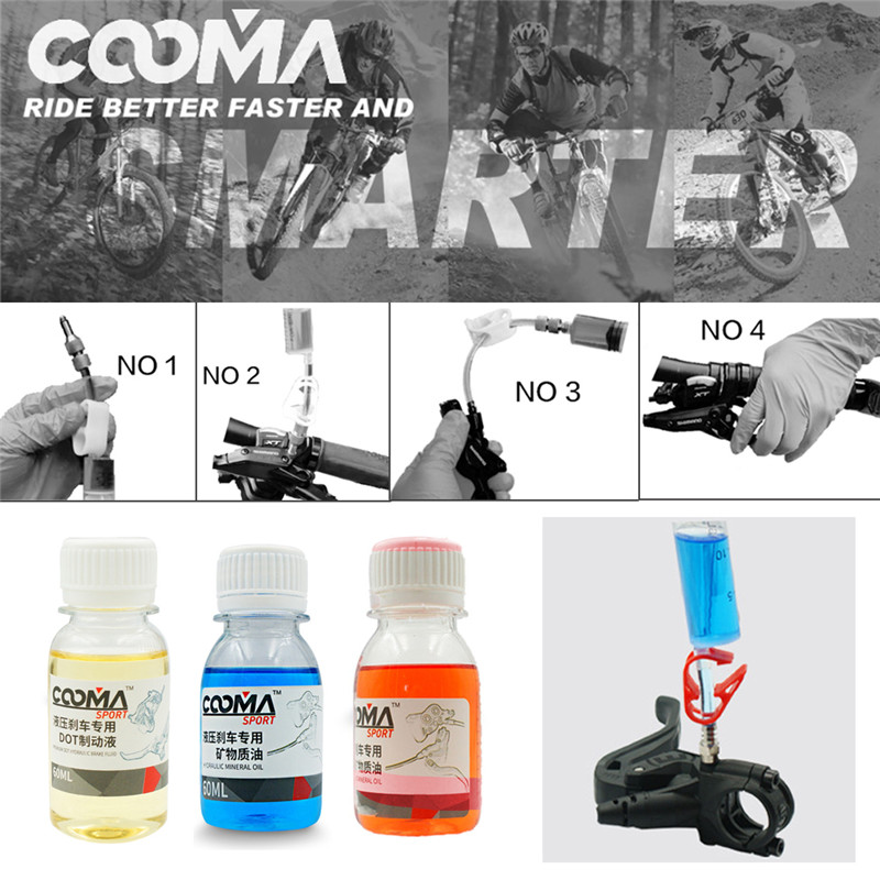 60ml Bicycle Brake Mineral Oil System Fluid Cycling MTB Bike For Shimano MAGURA