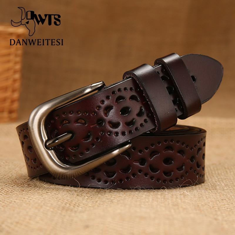 [Dwts] cinto feminino de couro legítimo, cinturão feminino de marca luxuosa feminino