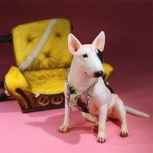 Mr.Z Studio 1:6 Tattoo Bull Terrier Dog Pet Figure Canidae Animal Model Toys Kid Gift Tide Play Ornaments Net Red Bull Head