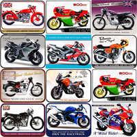 Metal Plate Custom Sign Plaque Metal Vintage Garage Motorcycle Signs Metal Wall Art Size:20*30CM