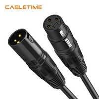 CABLETIME XLR Kabel Mikrofon Gitarre Kabel Kanone Stecker XLR Kabel Verlängerung Mikrofon Kabel für Audio Mixer Verstärker N208