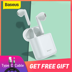 Baseus W09 TWS Wireless Bluetooth Earphone Intelligent Touch Control Wireless TWS Earphones With Stereo bass sound Smart Connect(China)
