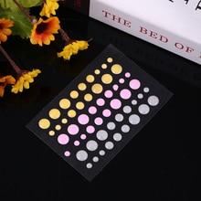 Grey Pink Orange Sugar Sprinkles Self-adhesive Enamel Dots Resin Sticker For DIY Scrapbooking Photo Album Cards Crafts Decor