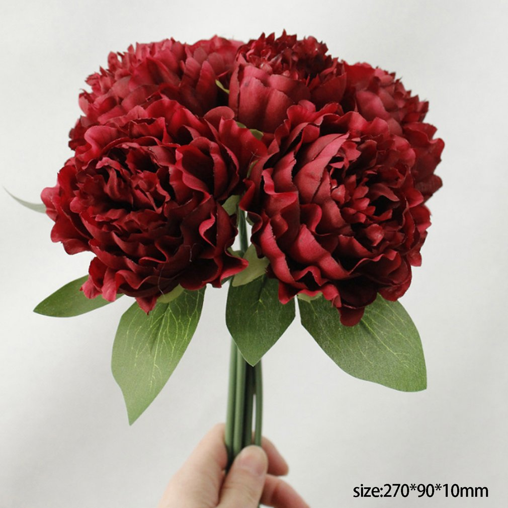 Artificial Fake Flowers Imitation Peony Floral Wedding Bouquet Vase Home Decoration Wedding Ornament Supplies Artificial Dried Flowers Aliexpress
