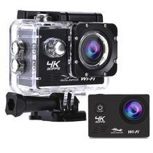 Hd wifi câmera de ação 2 polegada tela lcd 4 k 30fps ao ar livre ir à prova ddv água pro mergulho esportes capacete câmera dvr dv gravação vídeo