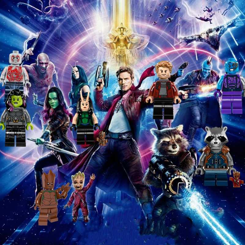 Guardians of the Galaxy Figures Building Blocks Toys Star-Lord Gamora Yondu Avengers Super Heroes Iron Man Spiderman Movie Doll