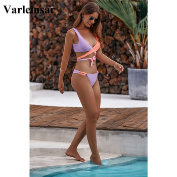 NEW 2020 Wrap Around Bikini Brazilian Swimsuit Female Swimwear Women Two-piece Bikini Set Bandage Bather Bathing Suit Swim V1857 2