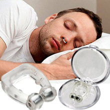 2/4 Pc Magnetic Anti Snoring Device Silicone Anti Snore Stopper Nose Clip Tray Sleeping Aid Apnea Guard Night Device With Case
