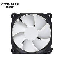 Phanteks черный, белый PWM 12 см, 14 см вентилятор, 12 В вентилятор радиатора, чехол для компьютера вентилятор, гидравлический подшипник 4pin pwm штекер PH-F120/140MP