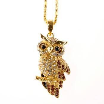USB2.0 Owl Crystal Mini Usb Creativo Flash Drive 128gb Gold Pen Drive 8gb 16gb 32gb Pendrive 64gb 1tb 2tb Lovers Jewelry Gifts
