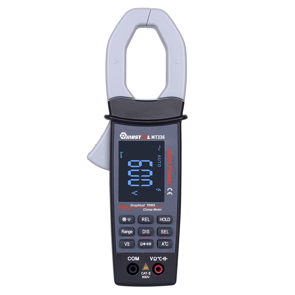 MUSTOOL MT336 600V Digital Clamp Meter AC/DC Current Voltage True RMS Auto Range Capacitance Non Contact Multimeter Oscilloscope