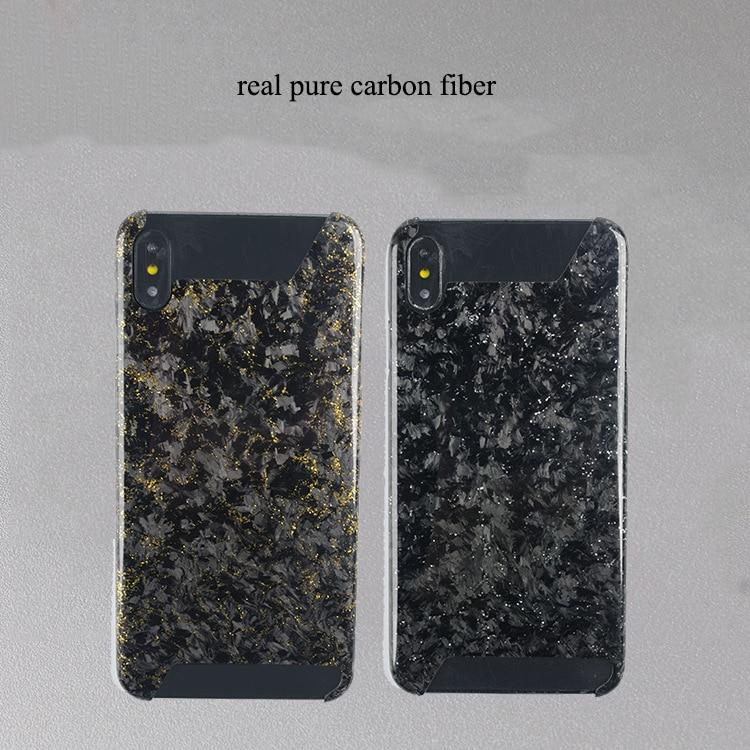 Жесткий ультра тонкий золотой и серебряный чехол из углеродного волокна для мобильного телефона iPhone 7 8 Plus X S R MAX