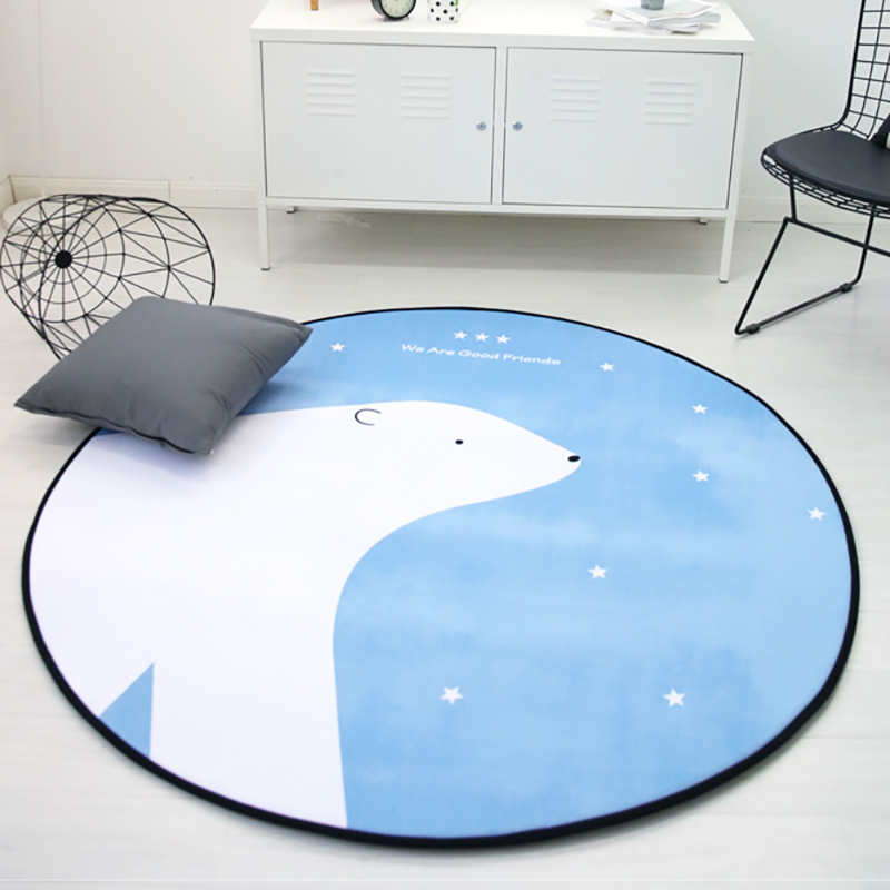 Baby Play Mat Carpet Infant Crawling Washable Portable Developing Mat  Round Shape Room Decor Toddler Gift Foam