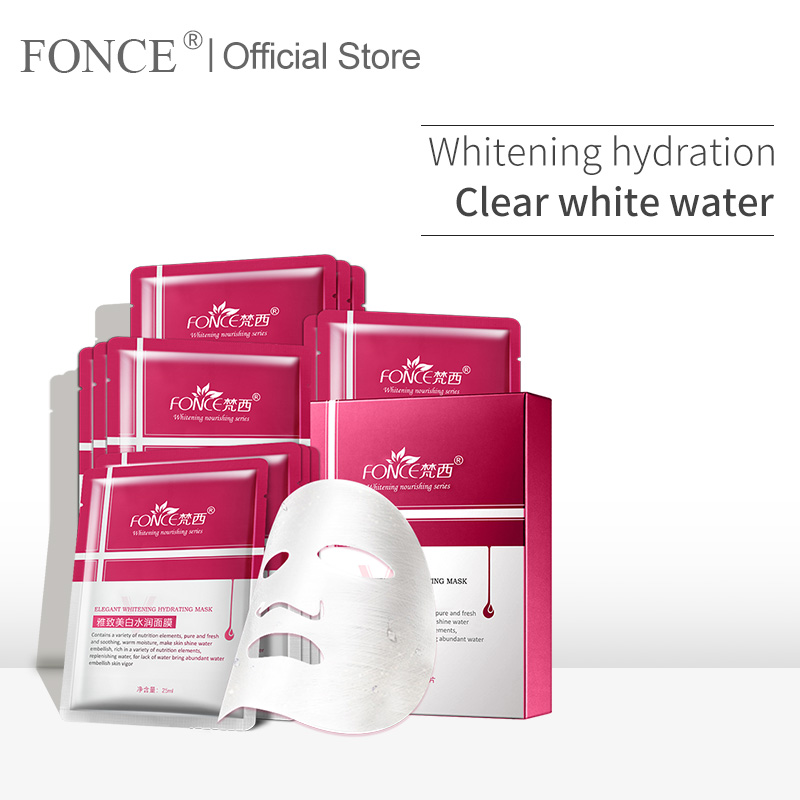Fonce VC Skin Whitening Facial Mask Special Effect Certificate Fade Freckle Remover Dark Spotted Stain Brightening