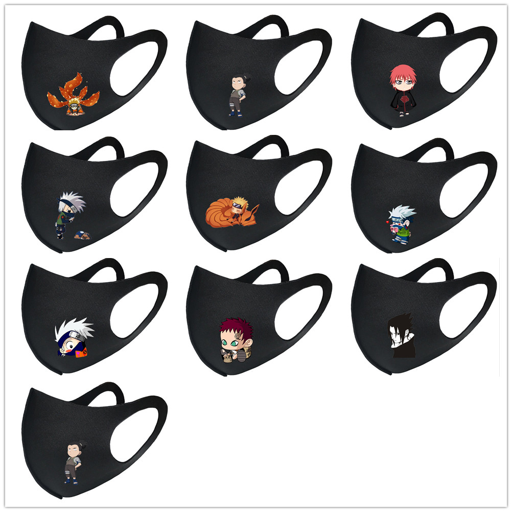 Anime Naruto Hokage Mouth Mask Breathable Face Mask Reusable Anti Pollution Face Shield Wind Proof Mouth Cover